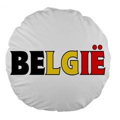 Belgium 18  Premium Round Cushion