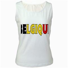 Belgium2 Womens  Tank Top (White)
