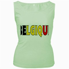 Belgium2 Womens  Tank Top (Green)