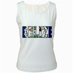 Belize Womens  Tank Top (White)