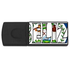 Belize 4gb Usb Flash Drive (rectangle)