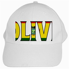 Bolivia White Baseball Cap