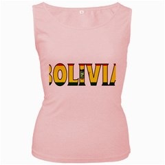 Bolivia Womens  Tank Top (Pink)