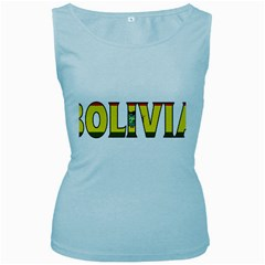 Bolivia Womens  Tank Top (Baby Blue)