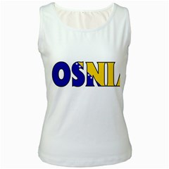 Bosnia Womens  Tank Top (White)