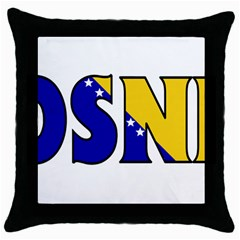 Bosnia Black Throw Pillow Case