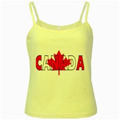 Canada Yellow Spaghetti Tank