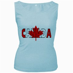 Canada Womens  Tank Top (Baby Blue)