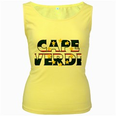 Cape Verde2 Womens  Tank Top (Yellow)