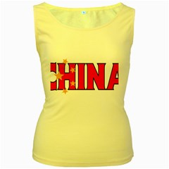 China Womens  Tank Top (Yellow)