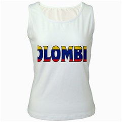 Colombia Womens  Tank Top (White)