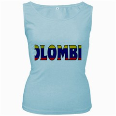 Colombia Womens  Tank Top (Baby Blue)