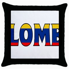 Colombia Black Throw Pillow Case