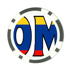 Colombia Poker Chip