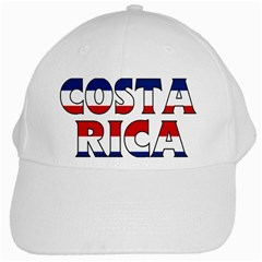 Costa Rica White Baseball Cap