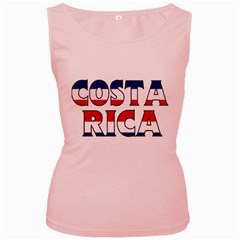 Costa Rica Womens  Tank Top (pink)