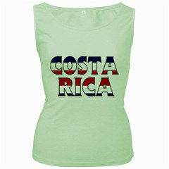 Costa Rica Womens  Tank Top (green)