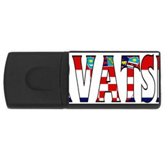 Croatia 4GB USB Flash Drive (Rectangle)
