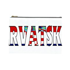 Croatia Cosmetic Bag (Large)