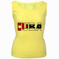 Cuba Womens  Tank Top (Yellow)