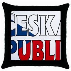 Czech Black Throw Pillow Case