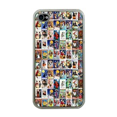 Vintage Halloween Apple iPhone 4 Case (Clear)