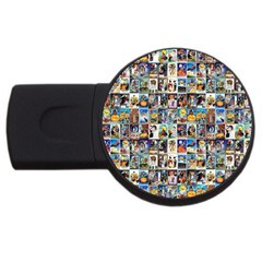 Vintage Halloween 2GB USB Flash Drive (Round)