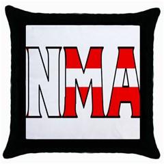 Denmark Black Throw Pillow Case