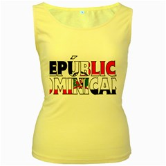 Dominican Womens  Tank Top (Yellow)