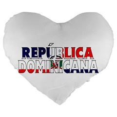 Dominican 19  Premium Heart Shape Cushion