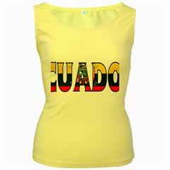 Ecuador Womens  Tank Top (Yellow)