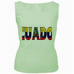 Ecuador Womens  Tank Top (Green)
