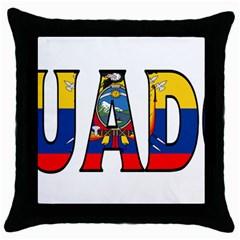 Ecuador Black Throw Pillow Case