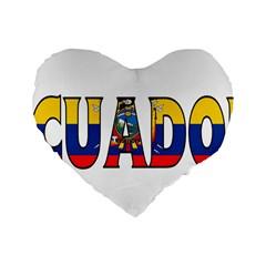 Ecuador 16  Premium Heart Shape Cushion