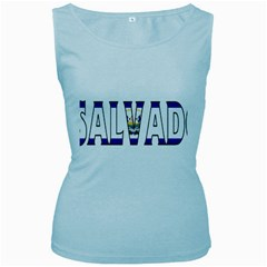 El Salvador Womens  Tank Top (baby Blue)