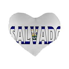 El Salvador 16  Premium Heart Shape Cushion