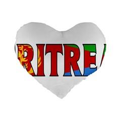 Eritrea 16  Premium Heart Shape Cushion