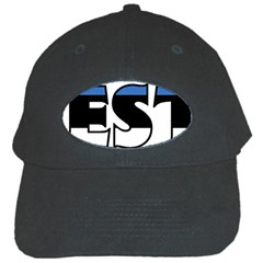 Estonia Black Baseball Cap