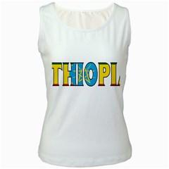 Ethiopa Womens  Tank Top (White)