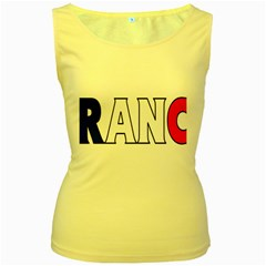 France Womens  Tank Top (yellow)