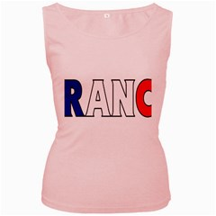 France Womens  Tank Top (Pink)