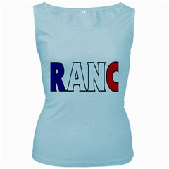 France Womens  Tank Top (Baby Blue)