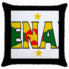 Grenada Black Throw Pillow Case