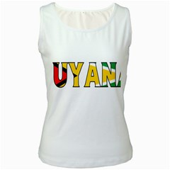 Guyana Womens  Tank Top (White)