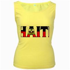 Haiti2 Womens  Tank Top (Yellow)