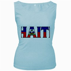 Haiti2 Womens  Tank Top (Baby Blue)