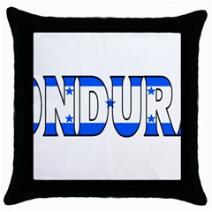 Honduras Black Throw Pillow Case