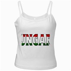 Hungary 3 White Spaghetti Tank