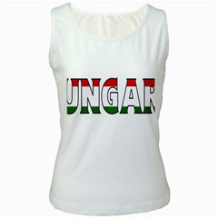 Hungary 3 Womens  Tank Top (White)