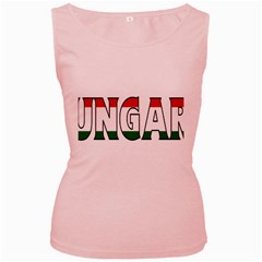 Hungary 3 Womens  Tank Top (Pink)